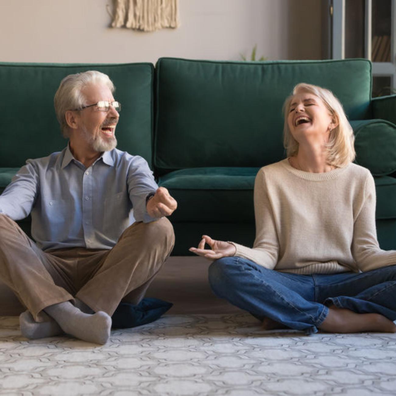 Happy Couple Yoga Meditation